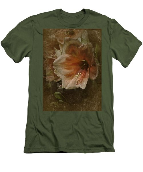 Men's T-Shirt (Slim Fit) featuring the photograph Vintage Amaryllis by Richard Cummings
