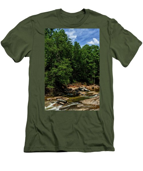 Men's T-Shirt (Slim Fit) featuring the photograph Williams River After The Flood by Thomas R Fletcher