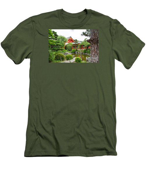 Men's T-Shirt (Slim Fit) featuring the digital art 33 Sanjusangendo 1 by Eva Kaufman