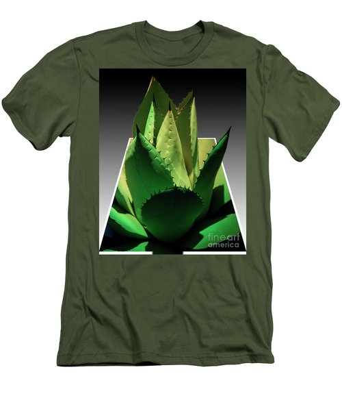 Men's T-Shirt (Slim Fit) featuring the photograph 3d Cactus by Darleen Stry