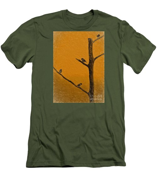 Men's T-Shirt (Slim Fit) featuring the photograph 4 Birds by Mim White