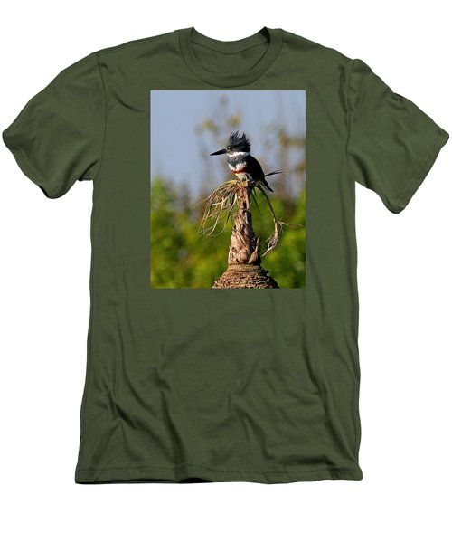 Female Belted Kingfisher Men's T-Shirt (Slim Fit)