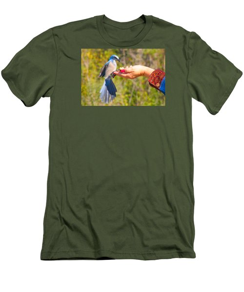 Florida Scrub Jay Men's T-Shirt (Athletic Fit)