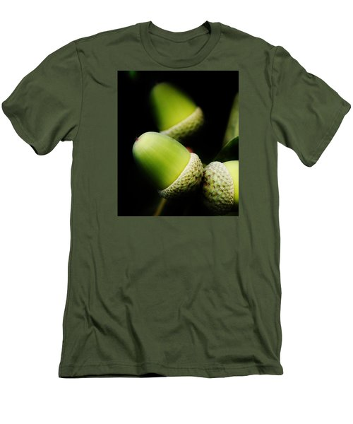 Foliage And Acorns Men's T-Shirt (Slim Fit) by Werner Lehmann