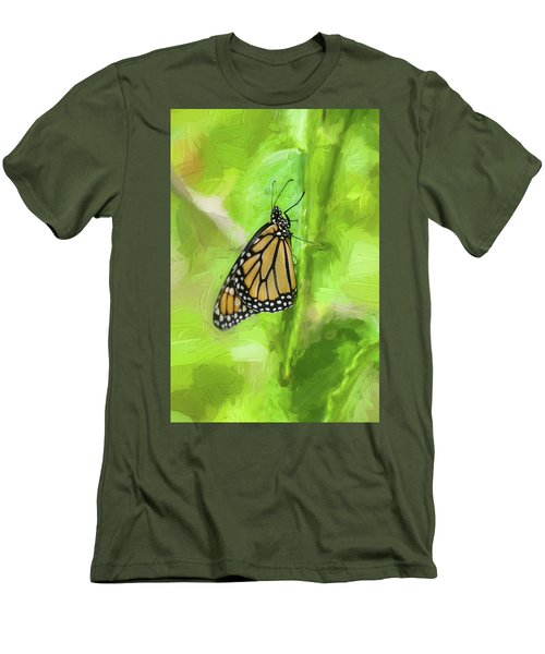 Monarch Butterflies Men's T-Shirt (Slim Fit) by Rich Franco