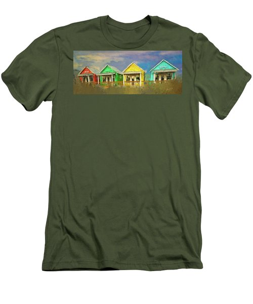 Men's T-Shirt (Slim Fit) featuring the digital art 4 Of A Kind by Dale Stillman