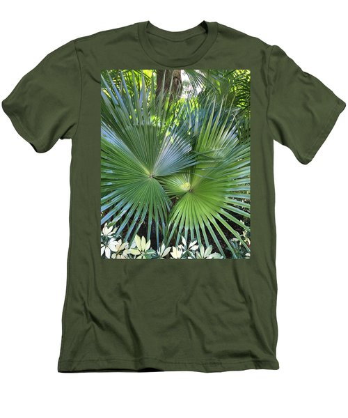 Palm Fronds Men's T-Shirt (Slim Fit) by Kay Gilley