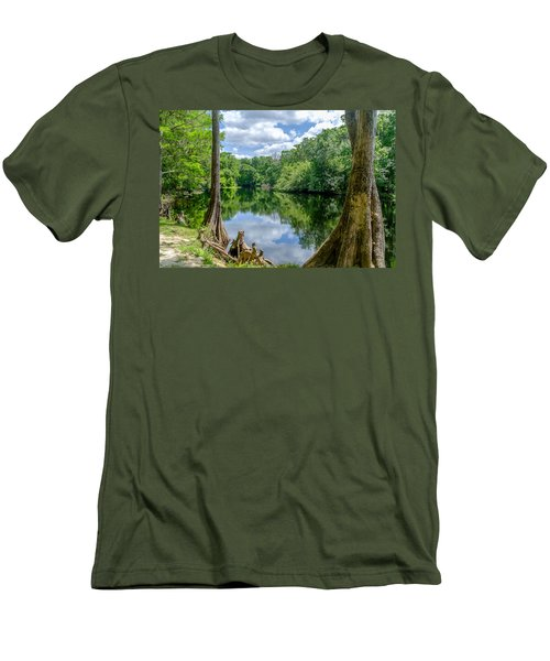 Men's T-Shirt (Slim Fit) featuring the photograph Reflections by Louis Ferreira