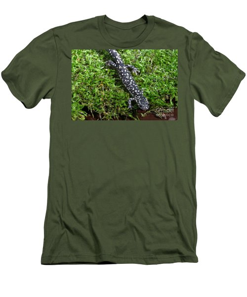 Slimy Salamander Men's T-Shirt (Slim Fit) by Ted Kinsman