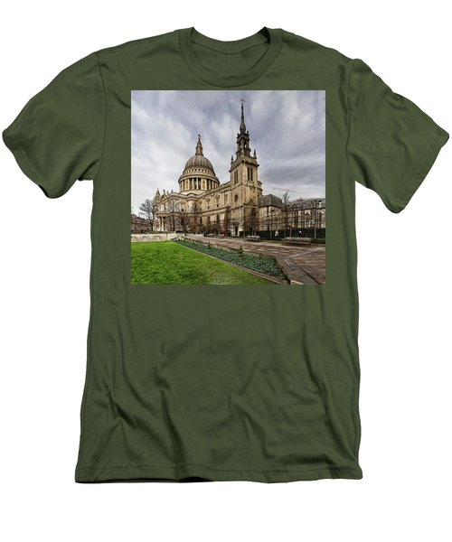 St Pauls Cathedral Men's T-Shirt (Slim Fit) by Shirley Mitchell