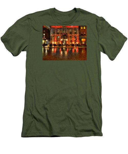 Street Reflections Men's T-Shirt (Slim Fit) by Andre Faubert