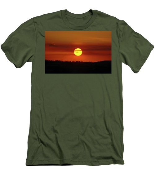 Men's T-Shirt (Slim Fit) featuring the photograph 4- Sunset by Joseph Keane