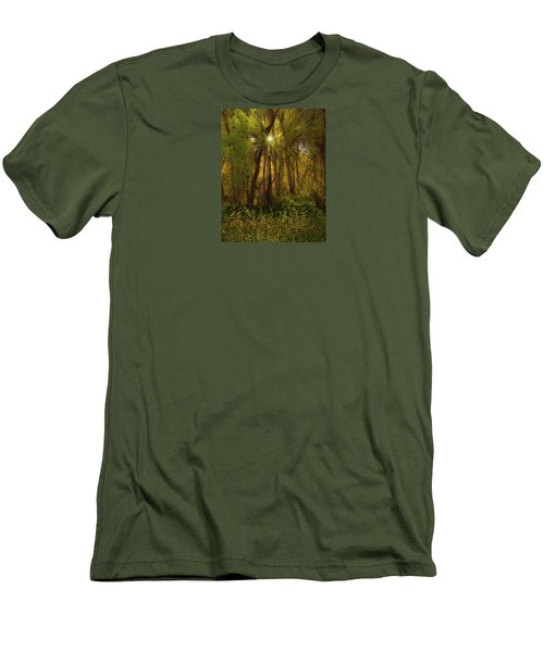 Men's T-Shirt (Slim Fit) featuring the photograph 4368 by Peter Holme III