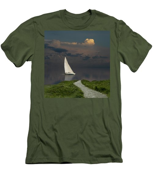 Men's T-Shirt (Athletic Fit) featuring the photograph 4456 by Peter Holme III
