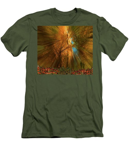 Men's T-Shirt (Athletic Fit) featuring the photograph 4478 by Peter Holme III