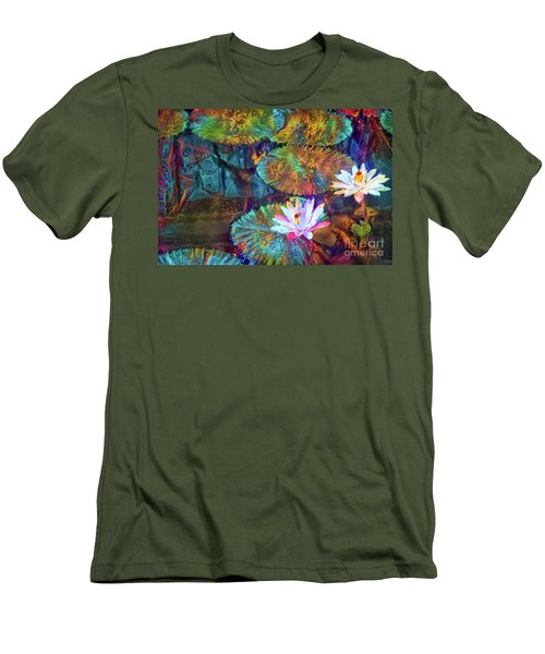 Jeweled Water Lilies Men's T-Shirt (Athletic Fit)