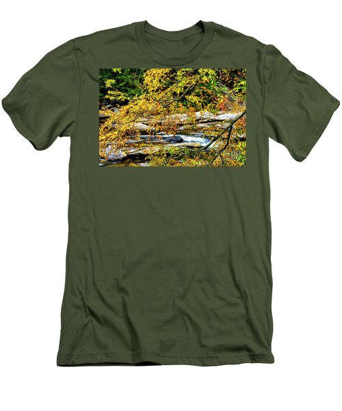 Autumn Middle Fork River Men's T-Shirt (Slim Fit) by Thomas R Fletcher