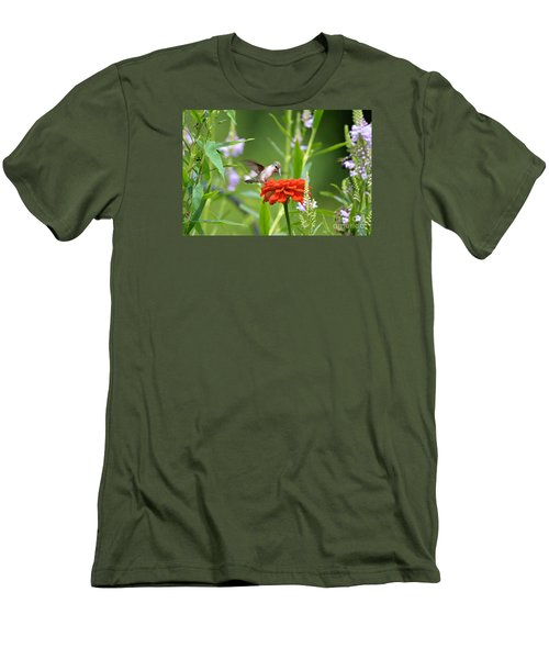 Humming Bird Men's T-Shirt (Athletic Fit)