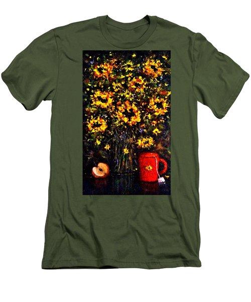 5 O'clock Men's T-Shirt (Slim Fit) by Cristina Mihailescu