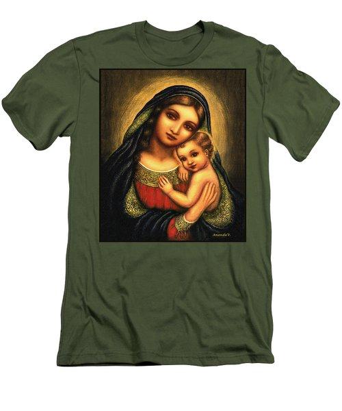 Oval Madonna Men's T-Shirt (Athletic Fit)