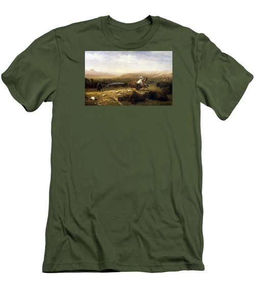 The Last Of The Buffalo  Men's T-Shirt (Slim Fit) by MotionAge Designs