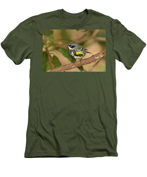 Yellow-rumped Warbler Men's T-Shirt (Slim Fit) by Alan Lenk