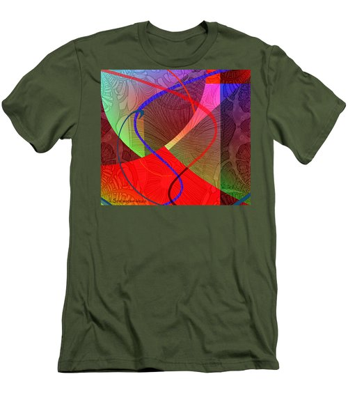 504 - Patterns  2017 Men's T-Shirt (Slim Fit) by Irmgard Schoendorf Welch