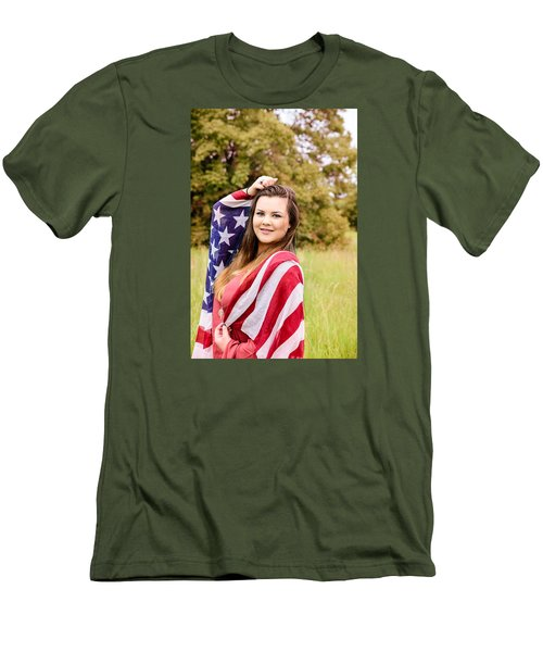 Men's T-Shirt (Slim Fit) featuring the photograph 5631-2 by Teresa Blanton