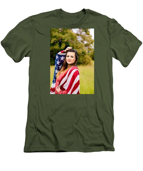 Men's T-Shirt (Slim Fit) featuring the photograph 5633 by Teresa Blanton