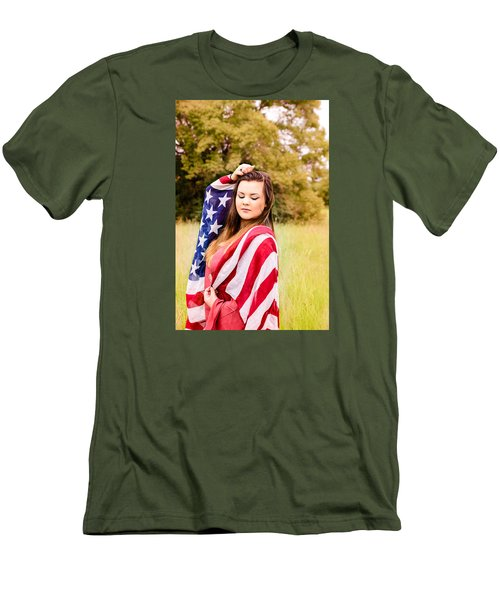 Men's T-Shirt (Slim Fit) featuring the photograph 5635-2 by Teresa Blanton