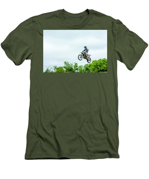 Men's T-Shirt (Slim Fit) featuring the photograph 573 Flying High At White Knuckle Ranch by David Morefield