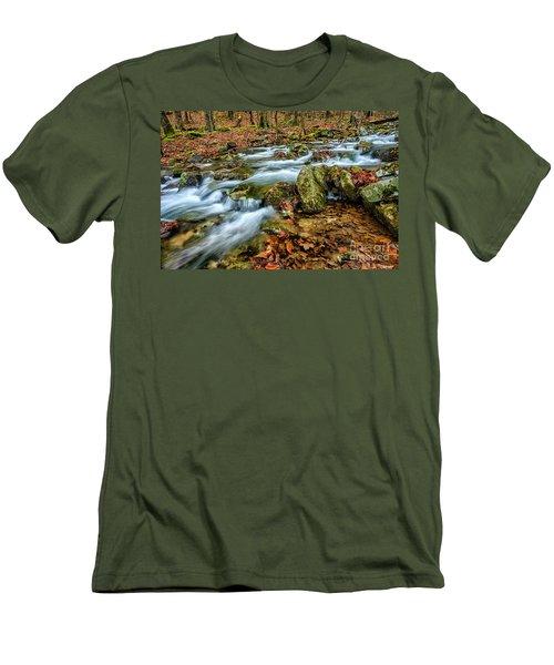 Men's T-Shirt (Slim Fit) featuring the photograph Aldrich Branch Monongahela National Forest by Thomas R Fletcher
