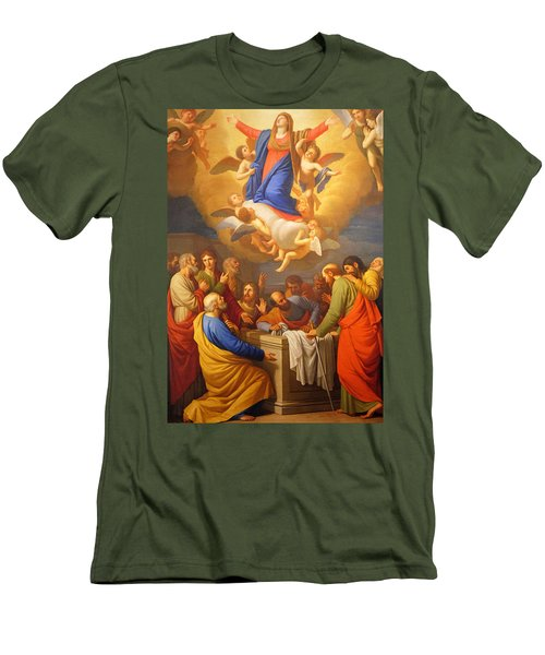 Men's T-Shirt (Slim Fit) featuring the painting Angels by Munir Alawi