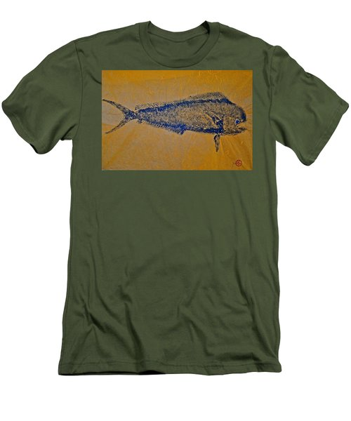 Gyotaku - Mahi Mahi - Dorado - Dolphinfish Men's T-Shirt (Athletic Fit)