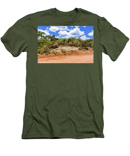 Landscape In Tanzania Men's T-Shirt (Slim Fit) by Marek Poplawski