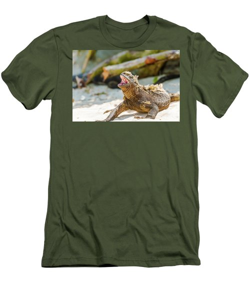 Marine Iguana On Galapagos Islands Men's T-Shirt (Athletic Fit)