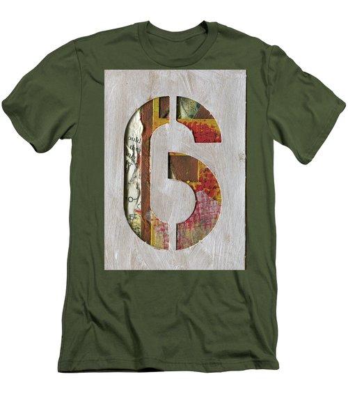 Number 6 Men's T-Shirt (Athletic Fit)