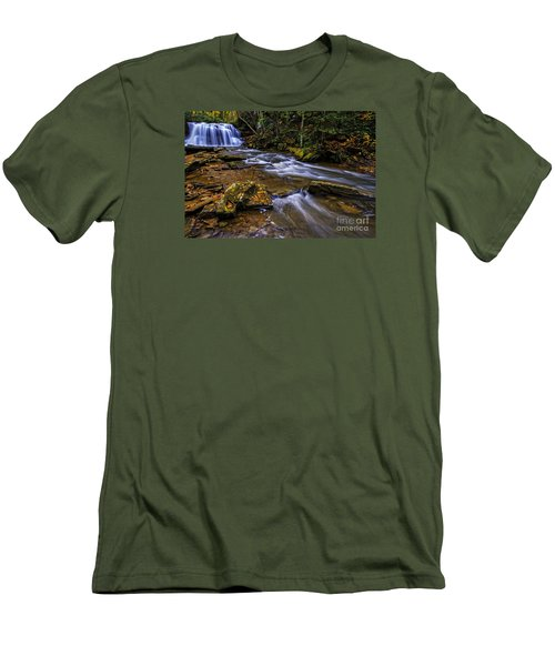 Upper Falls Holly River Men's T-Shirt (Slim Fit) by Thomas R Fletcher