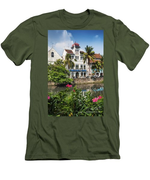 Dutch Colonial Buildings In Old Town Of Jakarta Indonesia Men's T-Shirt (Athletic Fit)