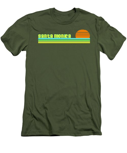 Santa Monica Men's T-Shirt (Slim Fit) by Brian's T-shirts