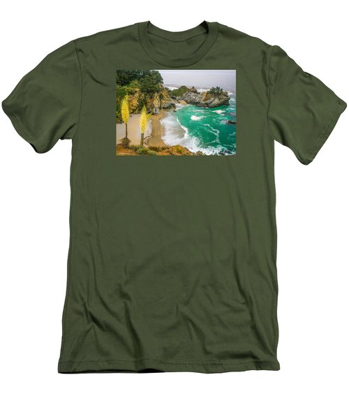 #7842 - Big Sur, California Men's T-Shirt (Athletic Fit)