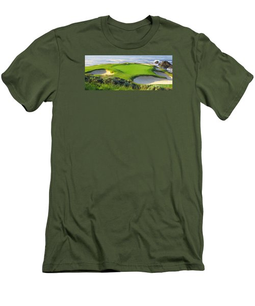 7th Hole At Pebble Beach Hol Men's T-Shirt (Slim Fit)