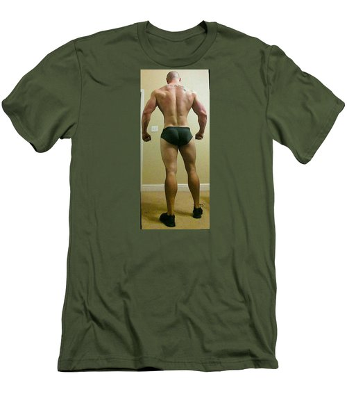 Rear View Men's T-Shirt (Slim Fit) by Jake Hartz