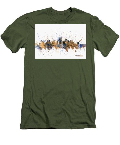 Men's T-Shirt (Slim Fit) featuring the digital art Richmond Virginia Skyline by Michael Tompsett