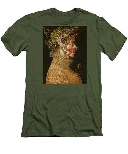Summer Men's T-Shirt (Slim Fit) by Giuseppe Arcimboldo