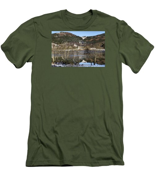 Trossachs Scenery In Scotland Men's T-Shirt (Slim Fit) by Jeremy Lavender Photography