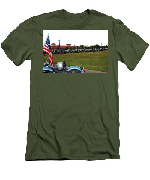 911 Ride Line Up Men's T-Shirt (Slim Fit) by Angela Murray