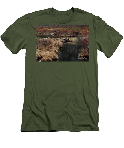 A Beaver's Work Men's T-Shirt (Slim Fit) by Skip Willits