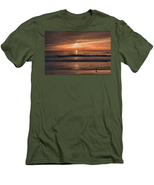Men's T-Shirt (Athletic Fit) featuring the photograph A Burnished Sunrise by John M Bailey