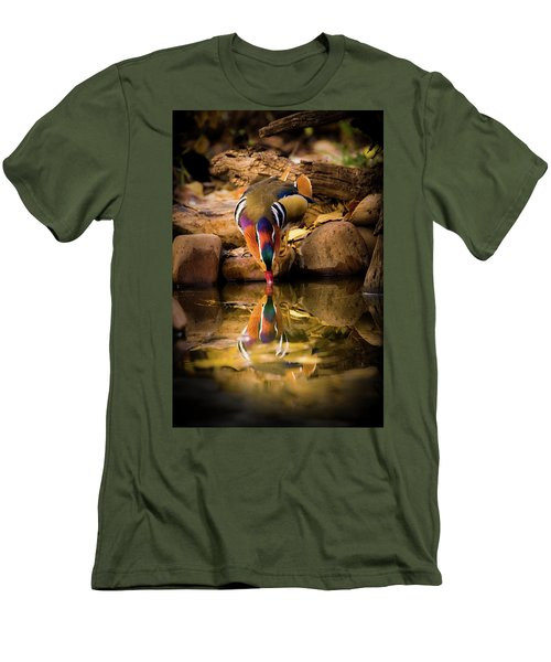 A Cold Drink - Mandarin Drake Men's T-Shirt (Athletic Fit)